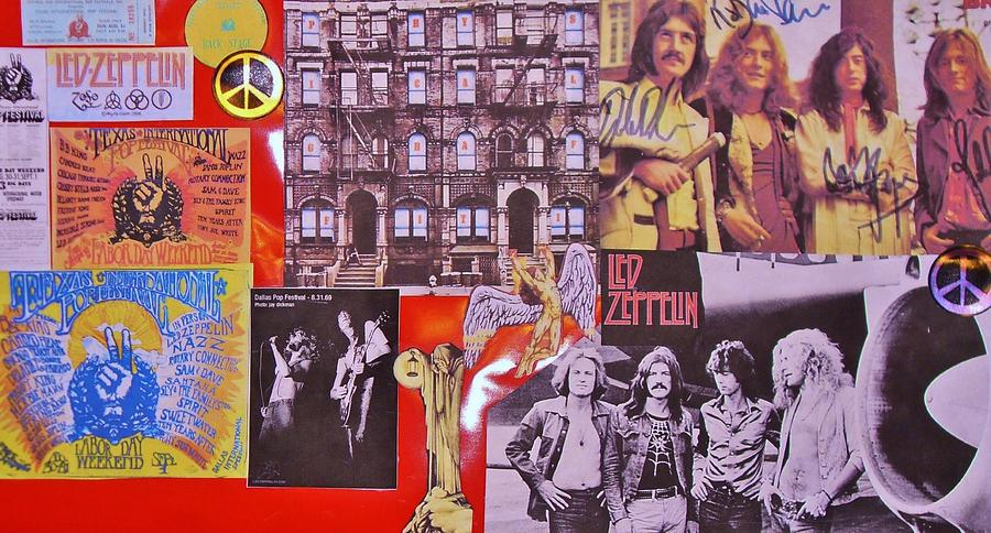 Led Zeppelin Photograph - Led Zeppelin  Collage Number Two by Donna Wilson