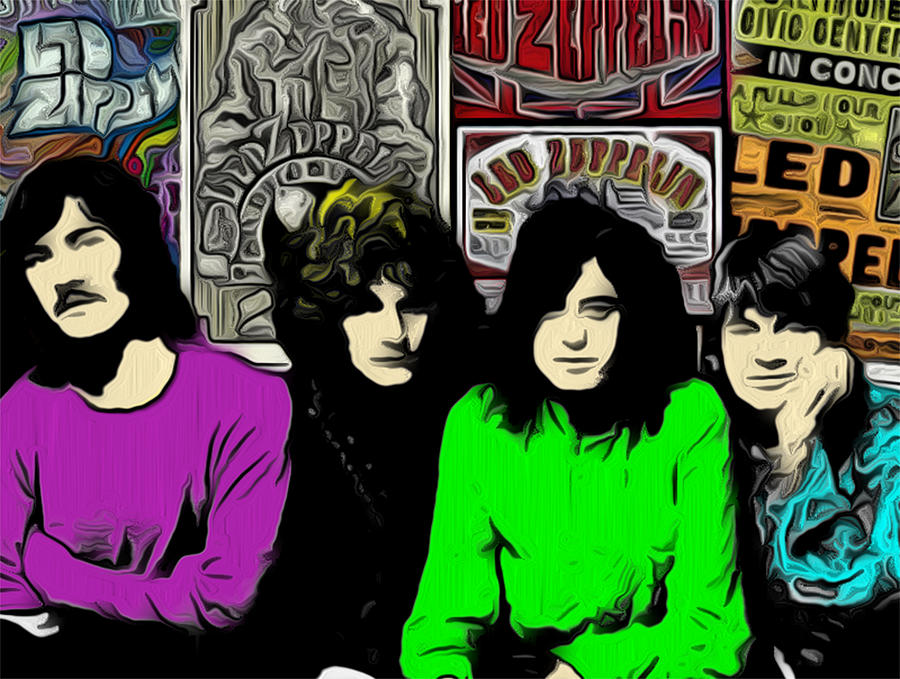 Led Zeppelin Digital Art - Led Zeppelin by GR Cotler