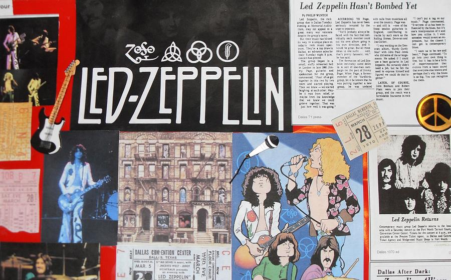 Led Zeppelin Photograph - Led Zeppelin Past Times by Donna Wilson
