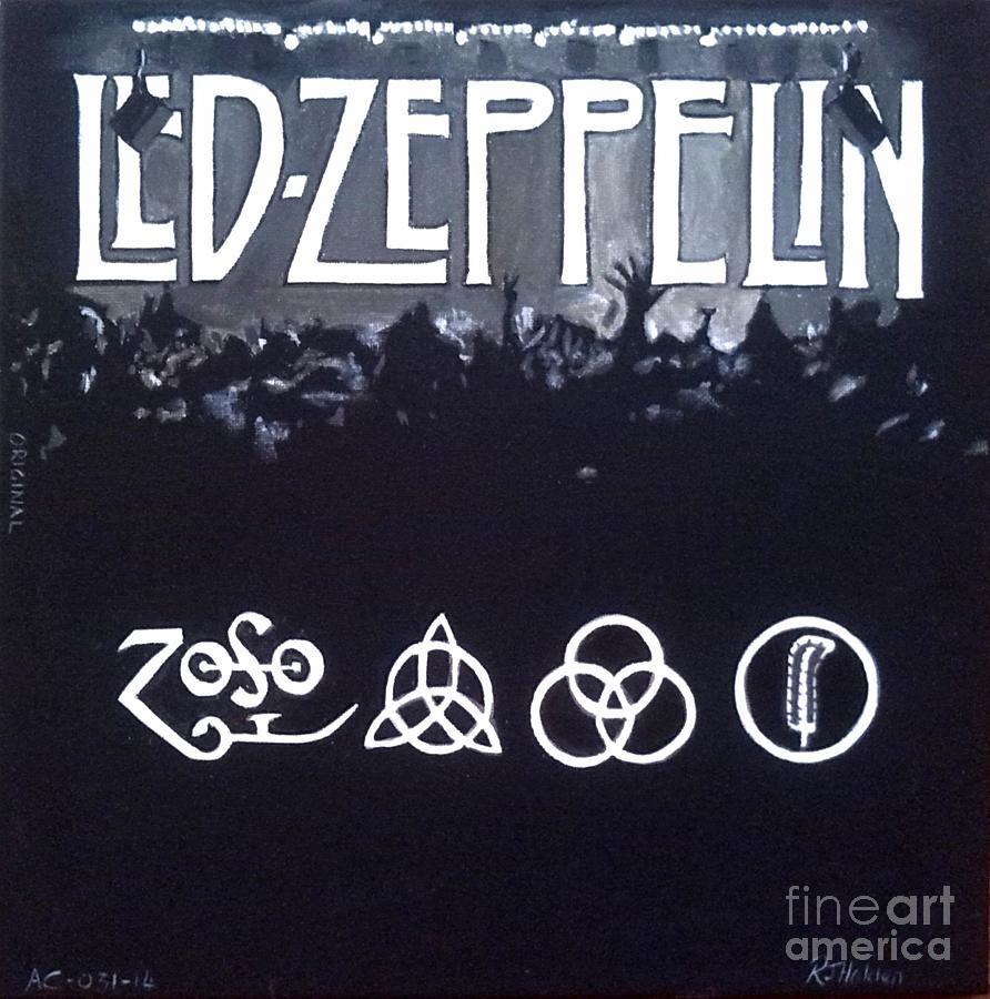 Led Zep Painting - Led Zeppelin by Richard John Holden RA
