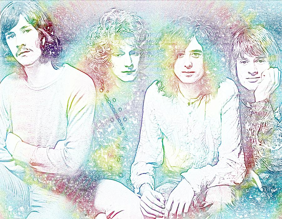 Led Zeppelin Digital Art - Led Zeppelin Tie Dye by Dan Sproul