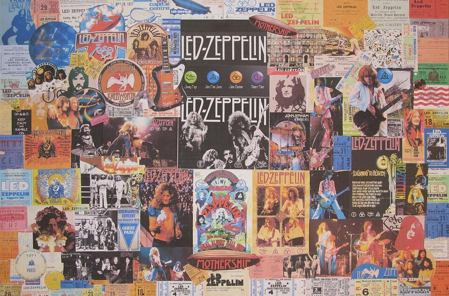 Led Zeppelin Years Collage Photograph by Donna Wilson