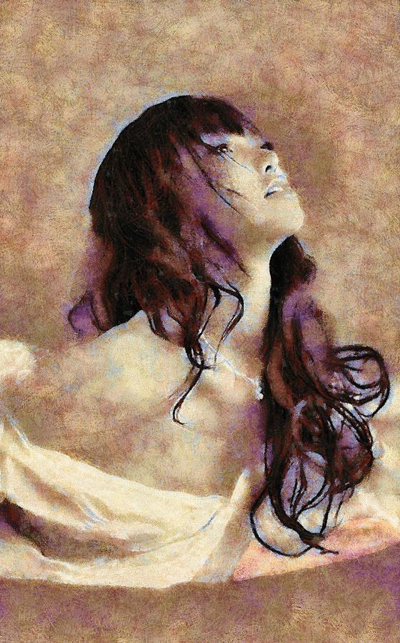 Leda Painting - Leda by Viktor Savchenko