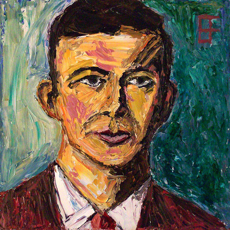 Lee harvey oswald painting by allen forrest for Harvey s paint and body
