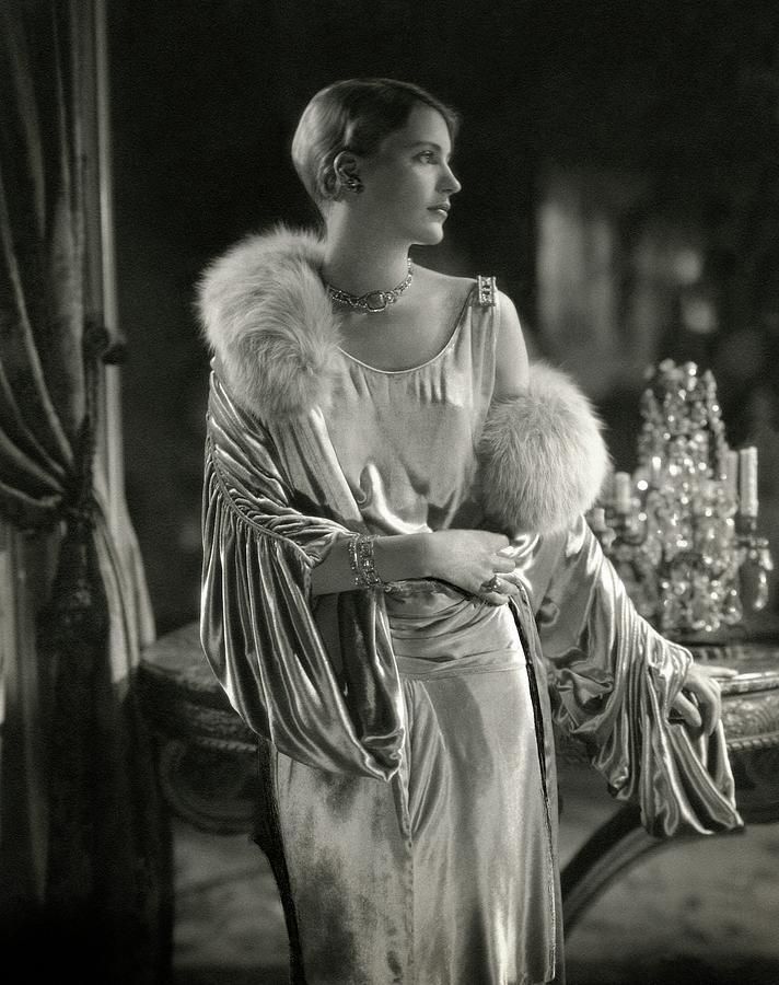 Lee Miller Wearing An Evening Gown Photograph by Edward Steichen