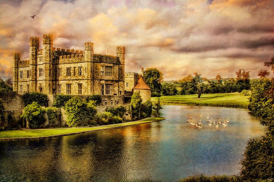Leeds Photograph - Leeds Castle Landscape by Chris Lord