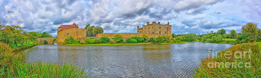 Leeds Castle Panorama Photograph