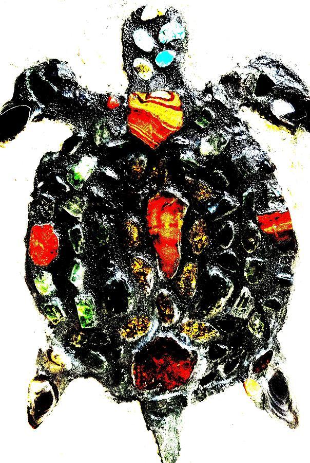 Turtle Mixed Media - Leeky Turtle by Lisa Brandel