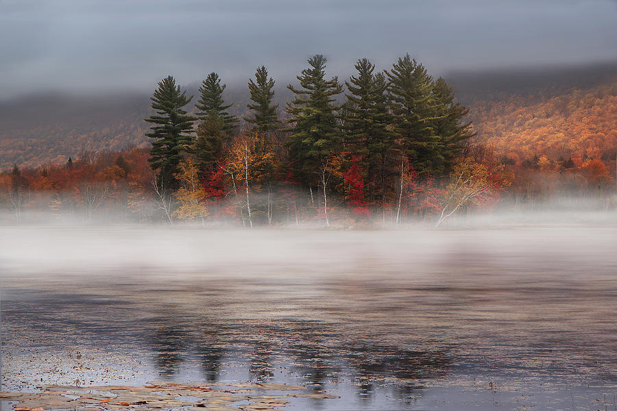 Vermont Photograph - Lefferts Pond by Magda  Bognar