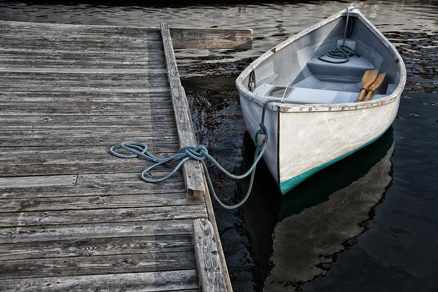 Boat Photograph - Left At The Dock by Karol Livote