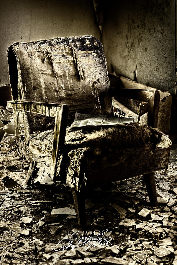 Chair Photographs Photograph - Left Behind-series 01 by David Allen Pierson