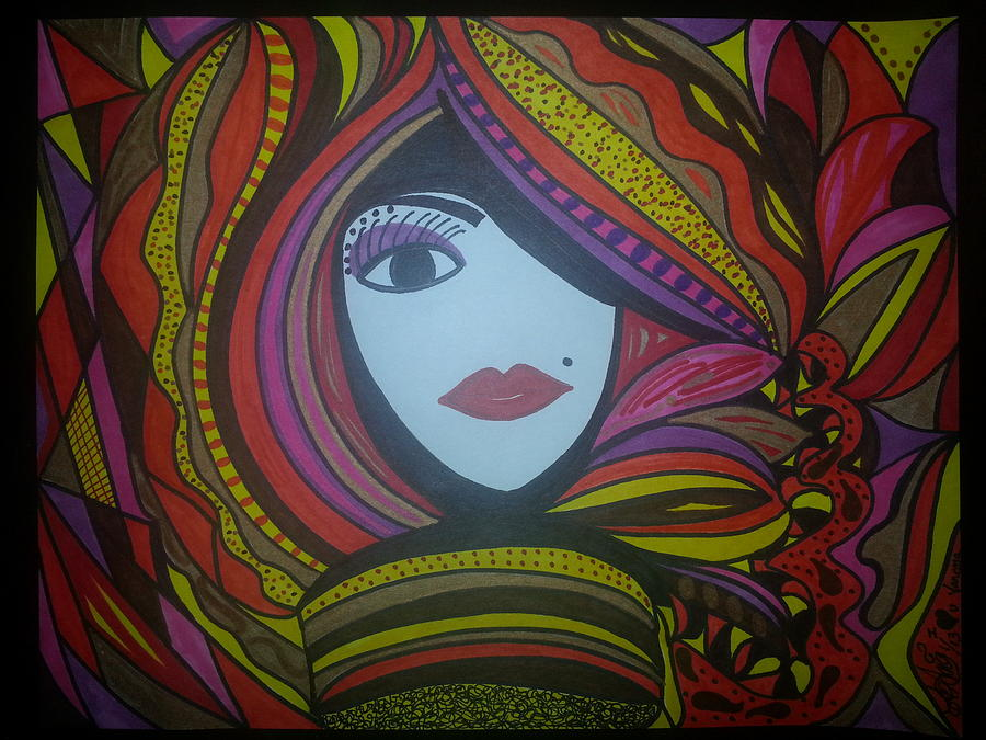 Drawing - Left Eye Re Make by Felicia Anguiano