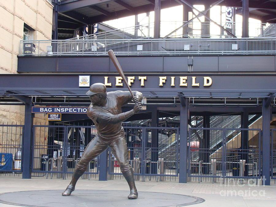 Baseball Photograph - Left Field by Anita Freeman
