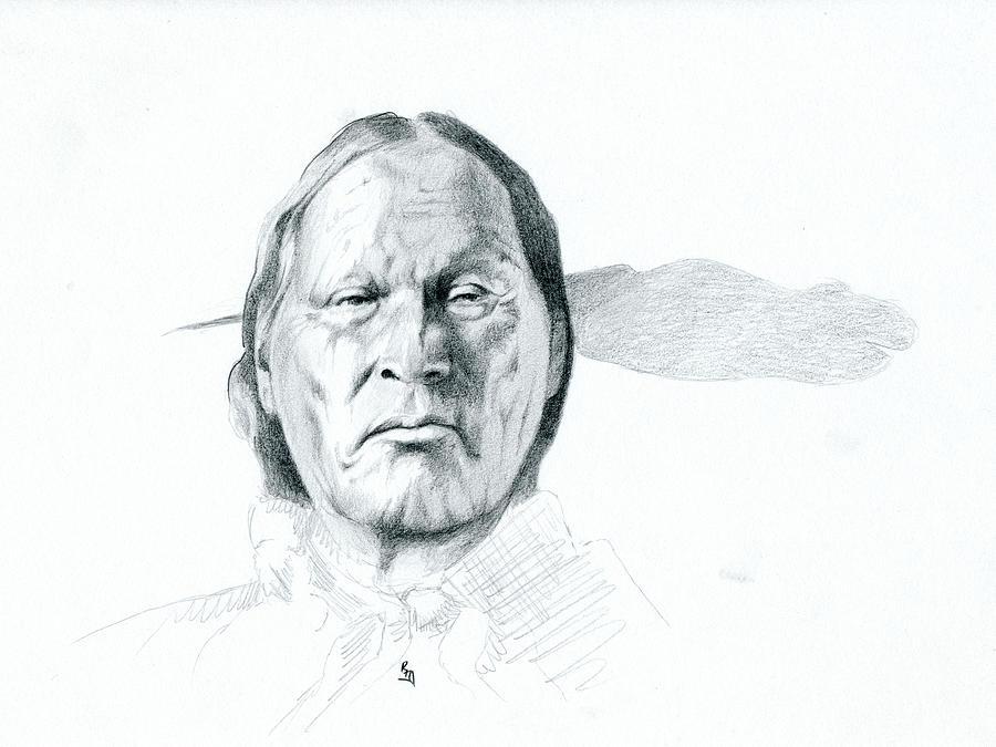 Native American Art Drawing - Left Hand by Robert Martinez
