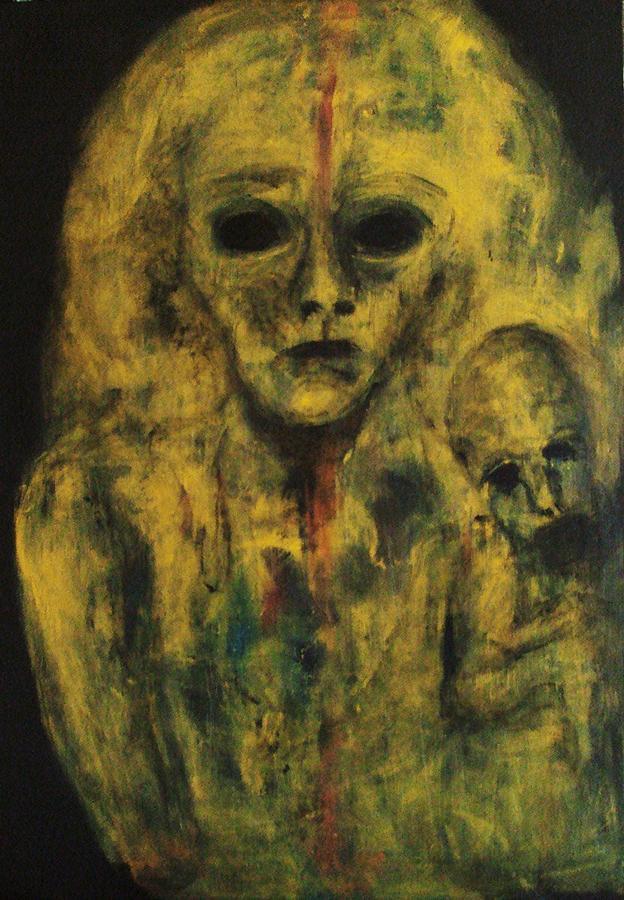 Expressionism Painting - Leftover by Katerina Apostolakou