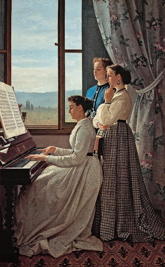 Interior Photograph - Lega Silvestro, The Folk Song, 1867 by Everett