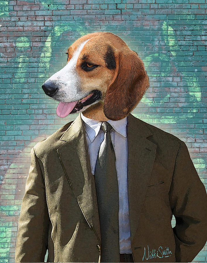Legal Digital Art - Legal Beagle by Nikki Smith