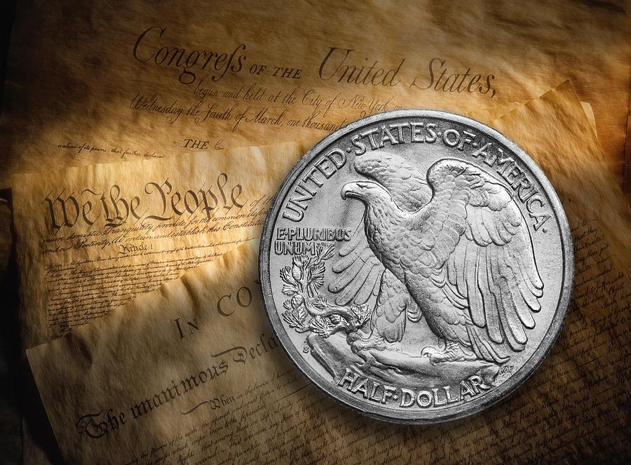 Coin Photograph - Legal Tender by Tom Mc Nemar