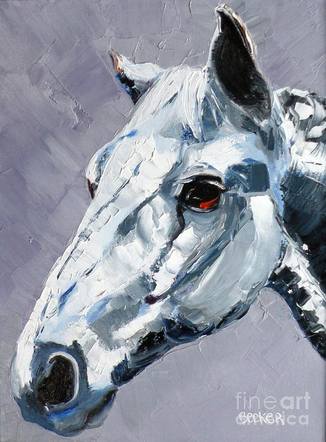 Horse Painting - Legend by Susan A Becker