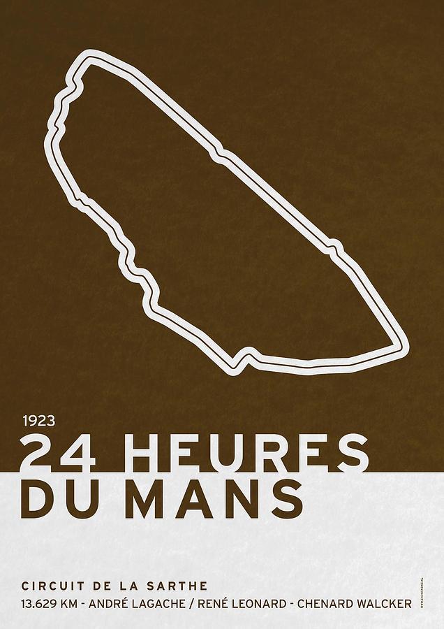 F1 Digital Art - Legendary Races - 1923 24 Heures Du Mans by Chungkong Art