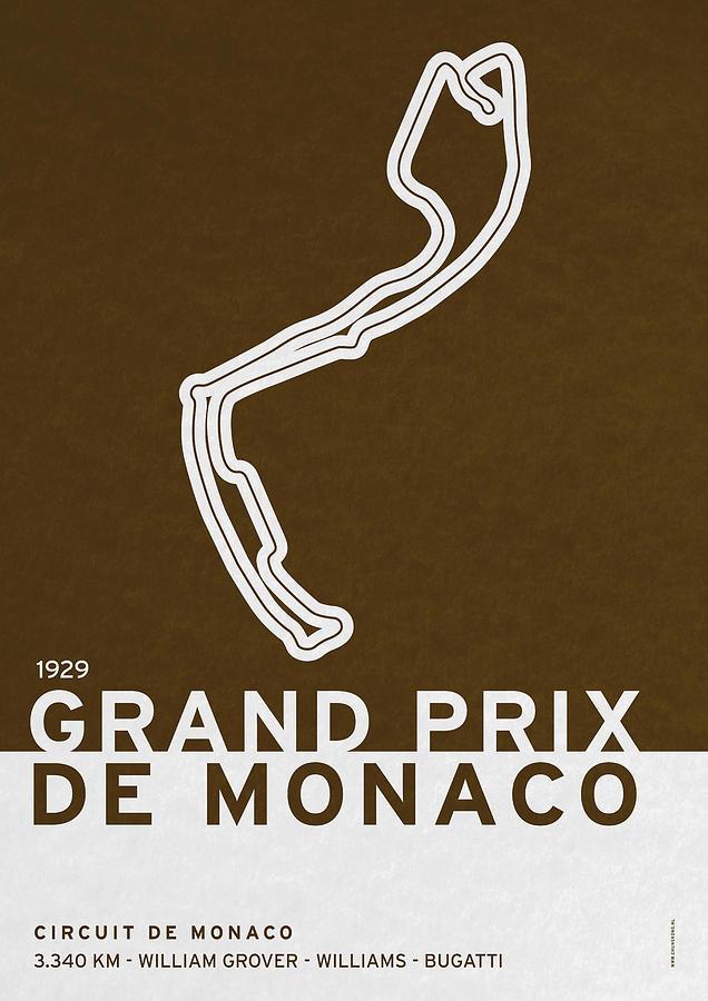 F1 Digital Art - Legendary Races - 1929 Grand Prix De Monaco by Chungkong Art