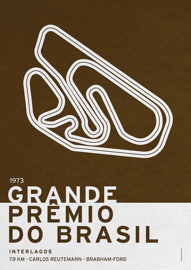 F1 Digital Art - Legendary Races - 1973 Grande Premio Do Brasil by Chungkong Art