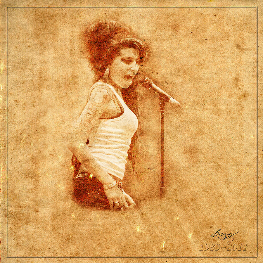 Amy Winehouse Photograph - Legends 7 by Andrew Fare