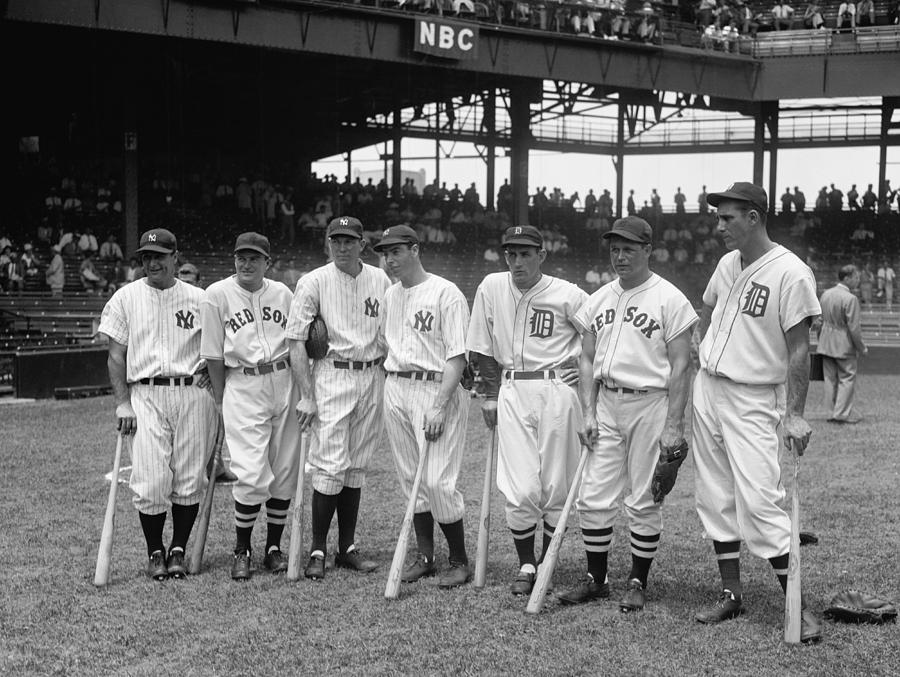 Baseball Photograph - Legends Row by Mountain Dreams