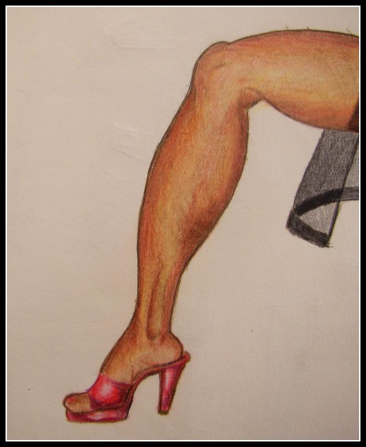 Leg Drawing - Leggy by William Bryant