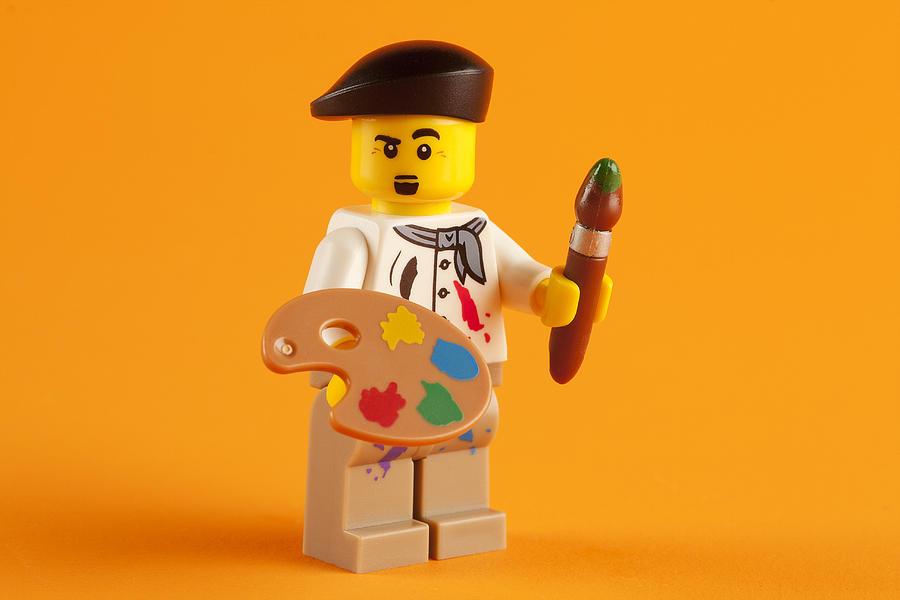Lego Photograph - Lego Artist by Samuel Whitton
