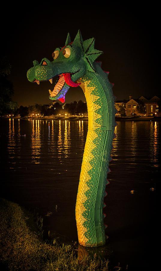 Orlando Photograph - Lego Loch Ness by Linda Tiepelman