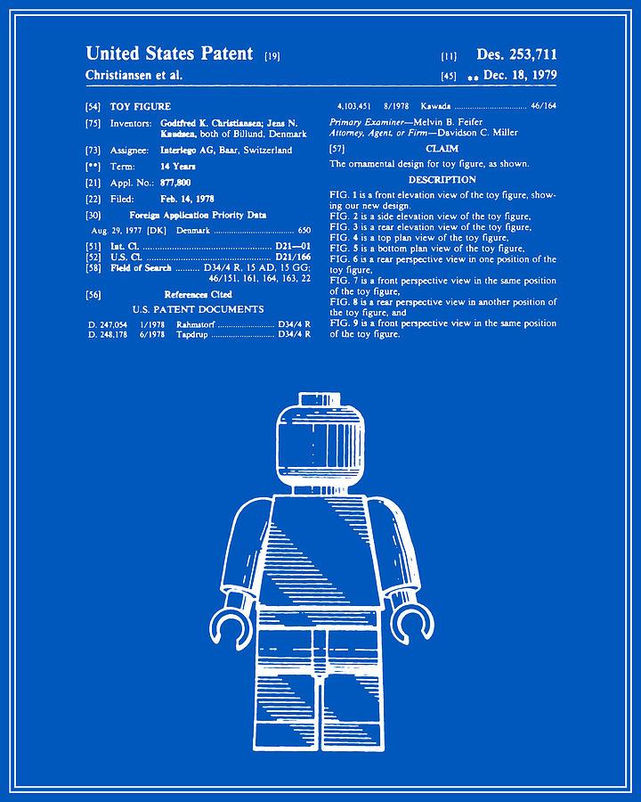 Lego man patent blueprint version one digital art by finlay mcnevin patent digital art lego man patent blueprint version one by finlay mcnevin malvernweather Choice Image