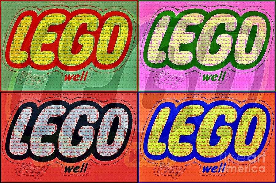 Lego Photograph - Lego Pop Art by Scott Allison