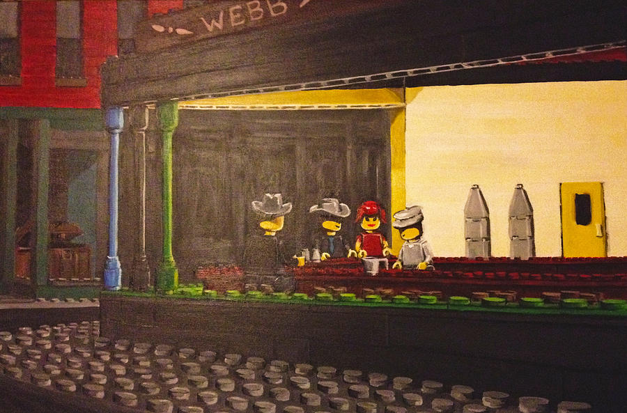 Legohawks Painting by Patrick Webb