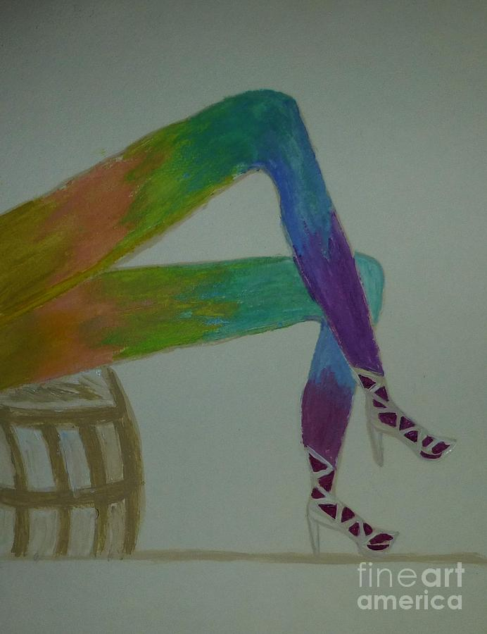 Abstract Painting - Legs Of A Different Color by Marie Bulger