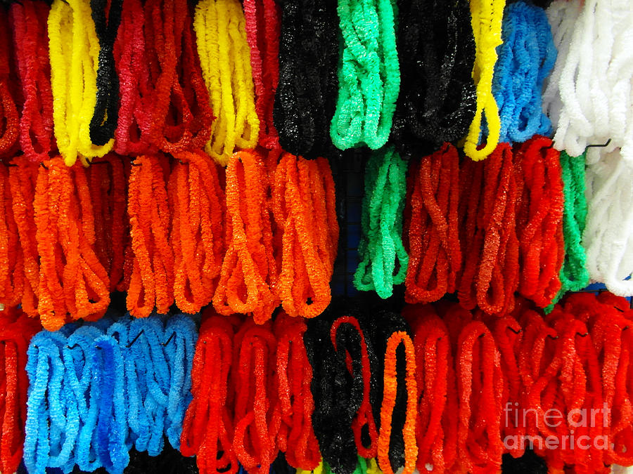 Color Photograph - Leis by Mark Thomas
