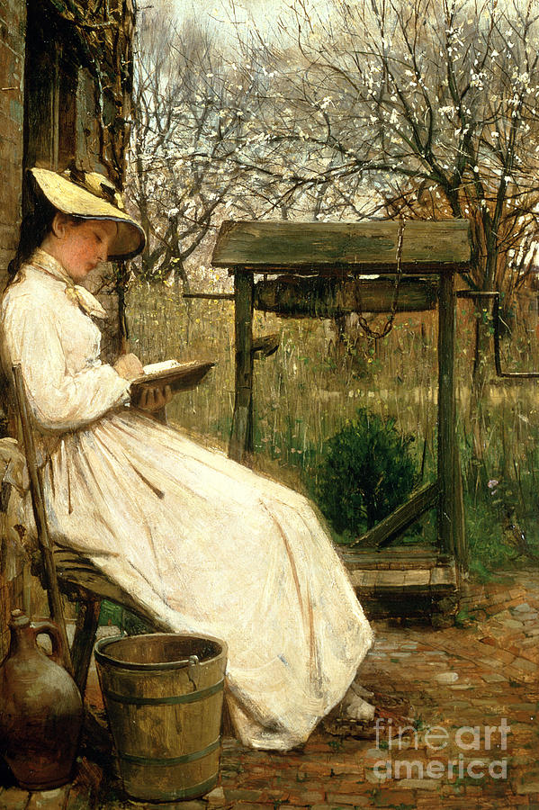 Read Painting - Leisure Hours by John Robertson Reid