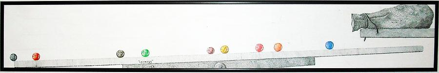 Marbles Drawing - Lemmings by A  Robert Malcom