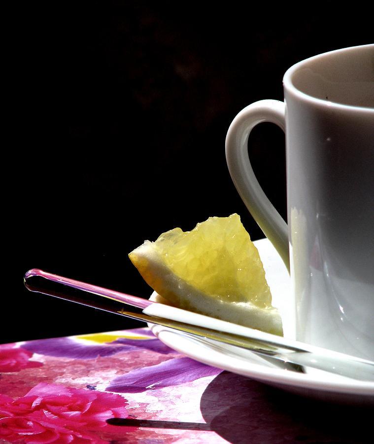 Tea Photograph - Lemon Please by Angela Davies