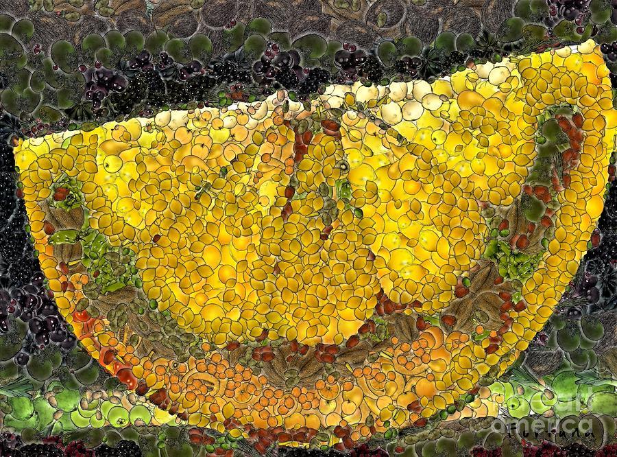 Fruits Digital Art - Lemon Slice by Dragica  Micki Fortuna