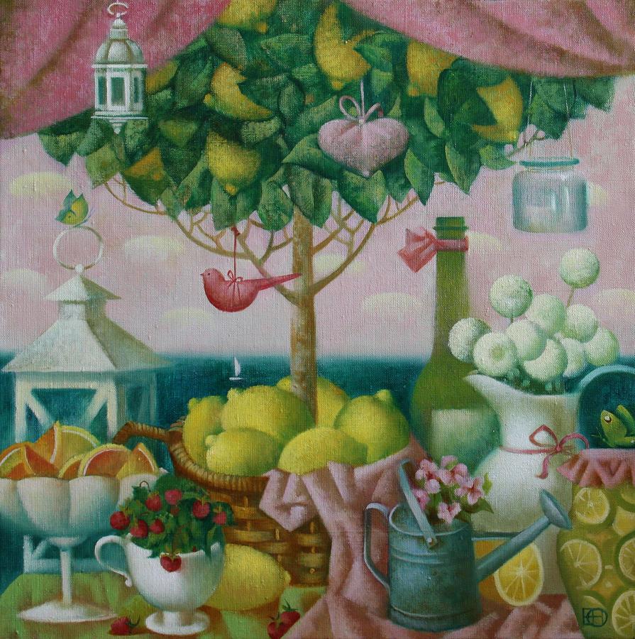Still Life Painting - Lemon Tree by Nadia Egorova