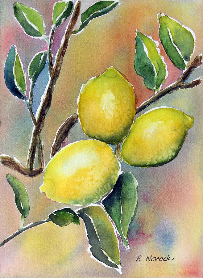 lemon painting lemon tree by patricia novack