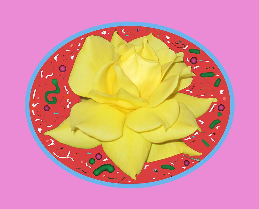 Yellow Digital Art - Lemon Yellow Rose by Good Taste Art