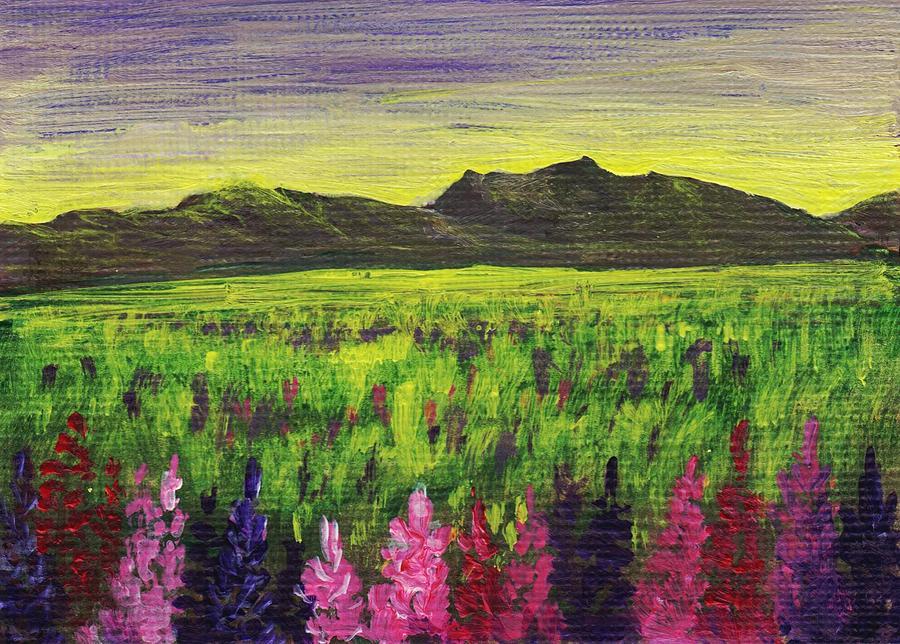 Calm Painting - Lemon Yellow Sunset by Anastasiya Malakhova