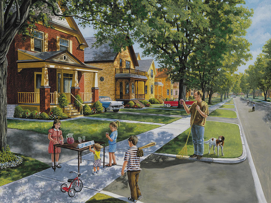 Lemonade Stand Painting - Lemonade Stand by Roger Witmer