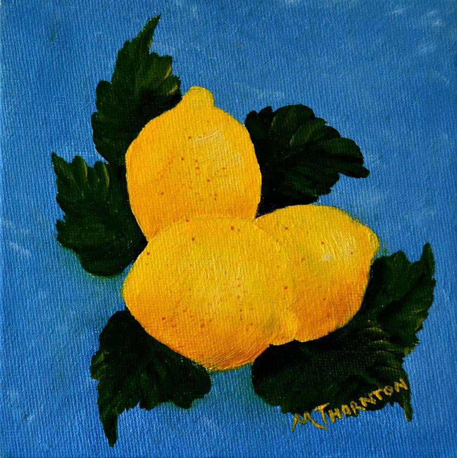 Lemons Painting - Lemonaide by Marsha Thornton