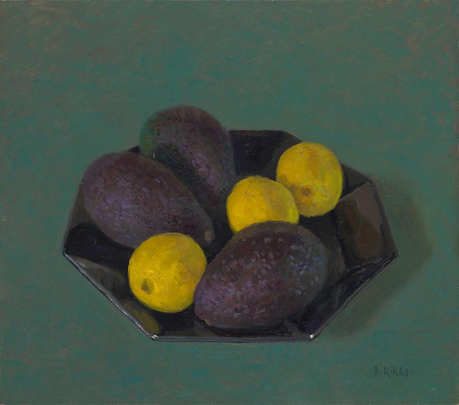 Still Life Painting - Lemons And Avocados by Ben Rikken