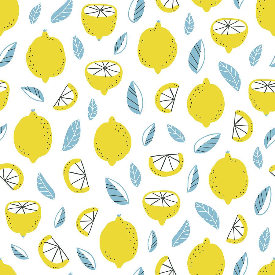 Lemons Pattern Digital Art by Stolenpencil