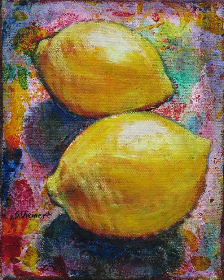 Lemon Painting - Lemons by Sheila Diemert