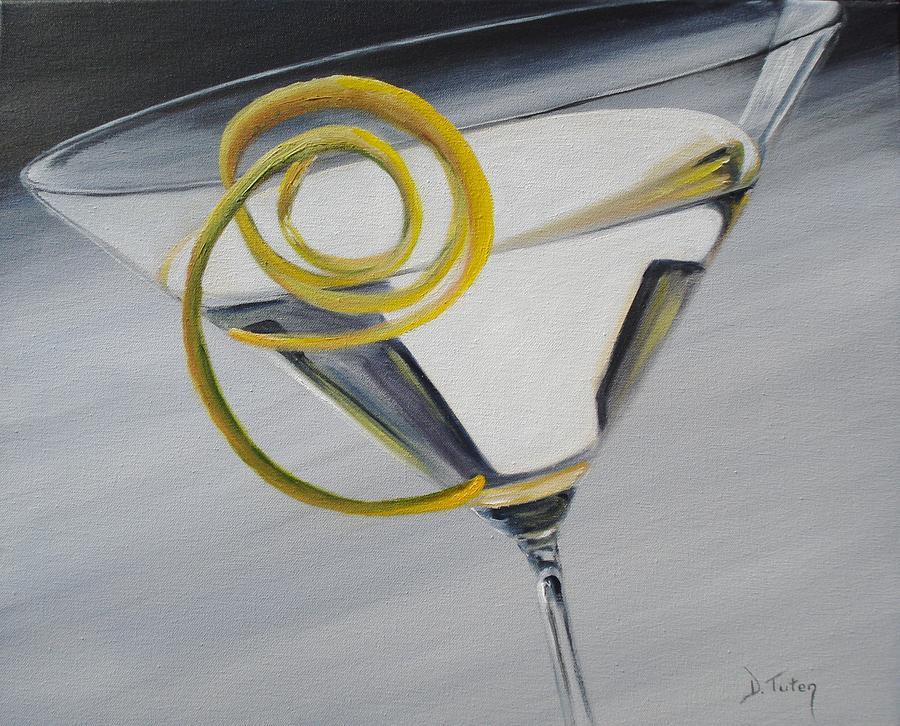 Lemontini Painting - Lemontini by Donna Tuten